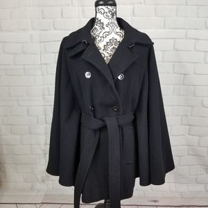 Michael Kors size 14 belted cape wool blend coat